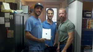 Actor Bobby Cannavale, instructor Neil Holland and I