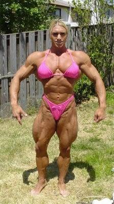 Female body builder on serious drugs
