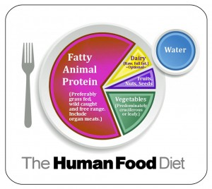 The sections represent the amount of calories from each food source, not the actual size of the food. There will be a greater amount of plant matter on your plate than animal matter.